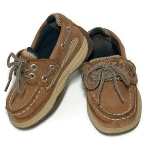 Sperry Lanyard A/C Deck Shoes Boys 5.5 Dirty Buck